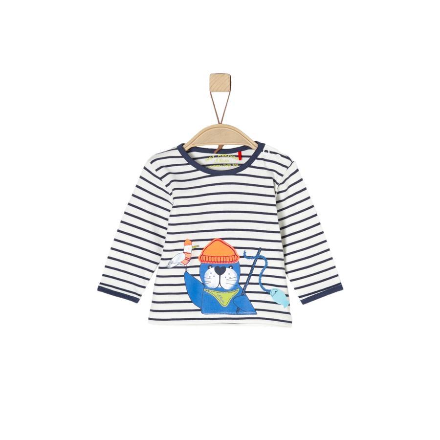 s.Oliver Boys Langarmshirt ecru stripes