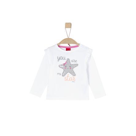 s. Oliver Tyttöjen pitkähihainen paita valkoinen