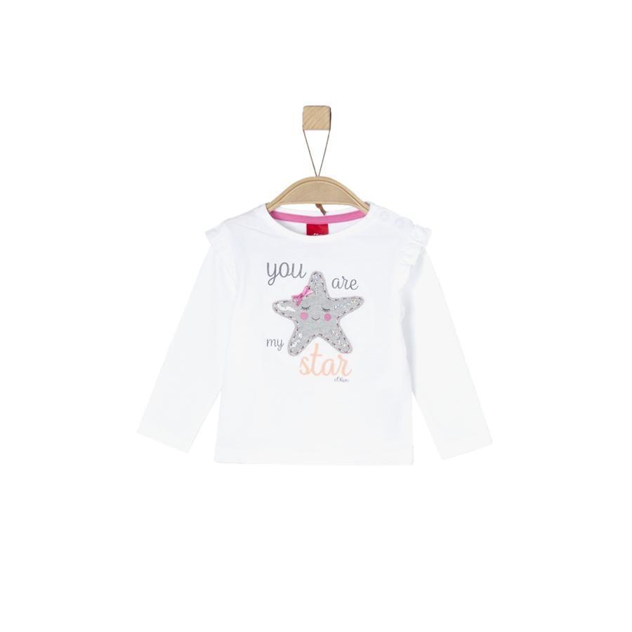 s. Olive r Girls tričko s dlouhým rukávem white
