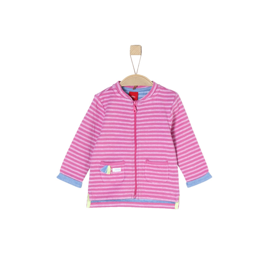 s.Oliver Girl s Sweatshirt veste à rayures roses