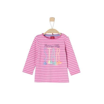 s.Oliver Girl s manica lunga camicia a righe rosa a maniche lunghe