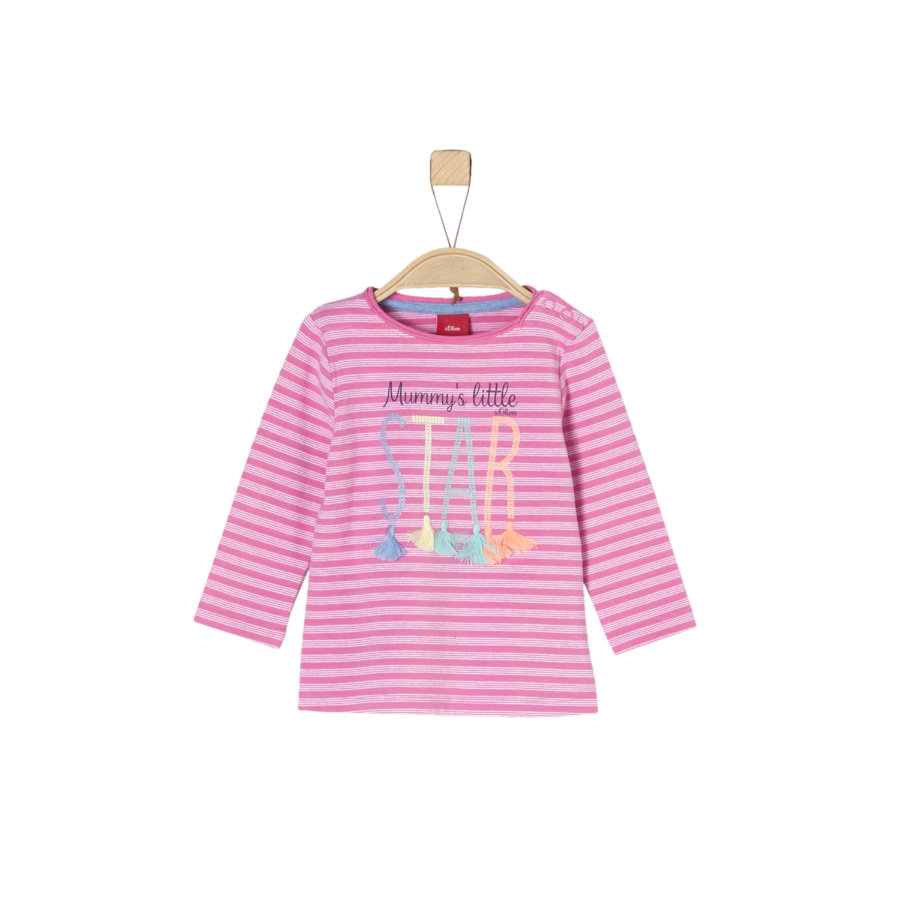 s.Oliver Girls Langarmshirt pink stripes