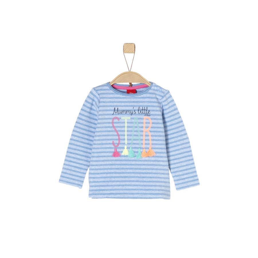 s.Oliver Girls Langarmshirt light blue stripes