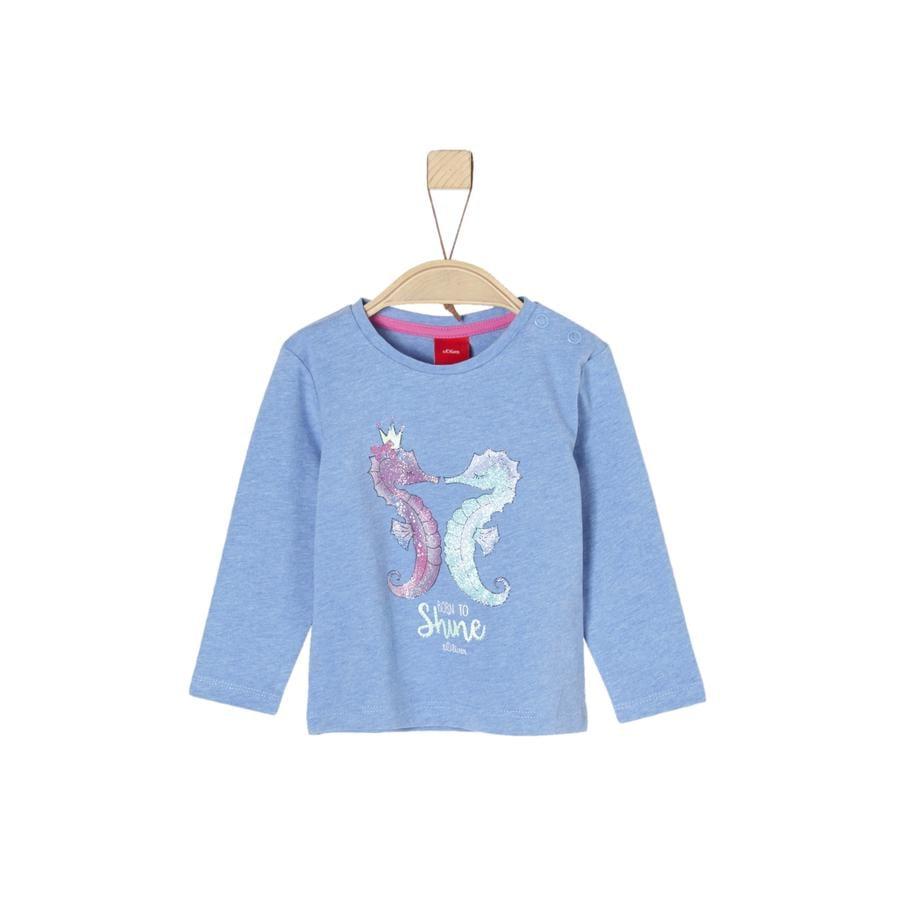 s.Oliver Girl s shirt met lange mouwen licht blauw gemêleerd