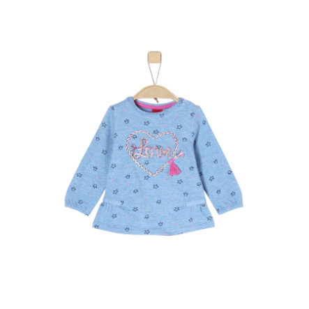 s.Oliver Girl s shirt met lange mouwen licht blauw
