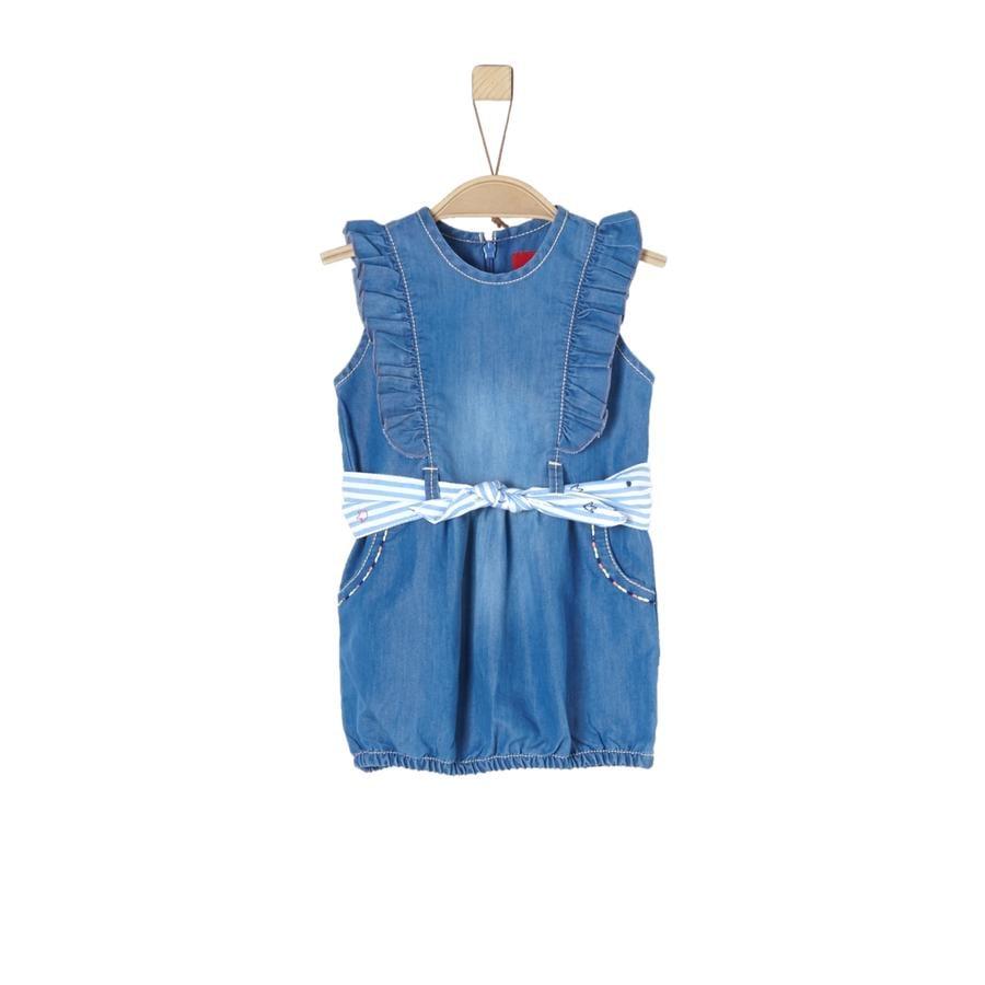 s.Oliver Girl s jurk blauw denim niet rekbaar