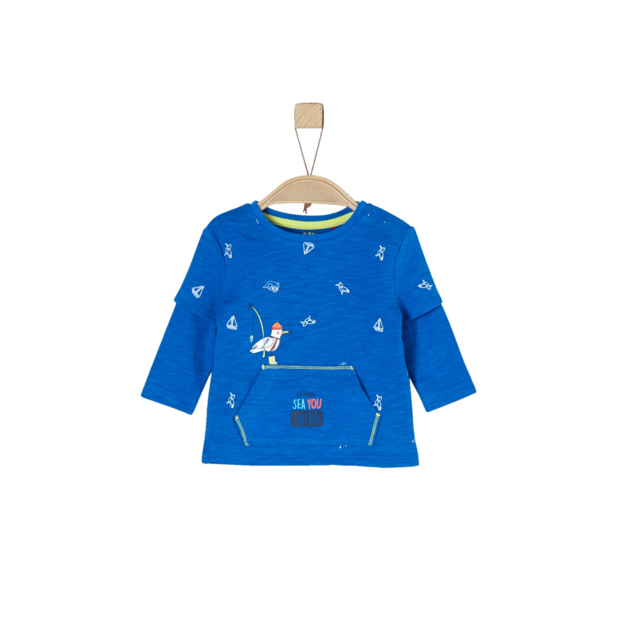 s.Oliver Långärmad tröja blue