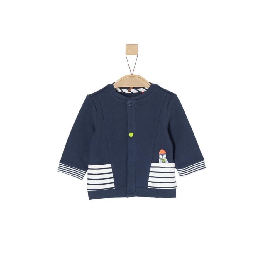s.Oliver Boys Sweat veste bleu foncé