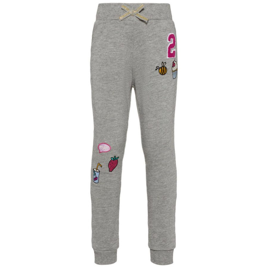 name it Girl s Pantalon de survêtement Nmferbaja gris mélangé
