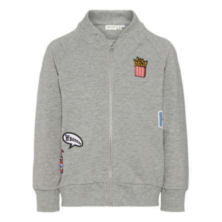 name it Boys Sweatjacke Nmmersan grey melange