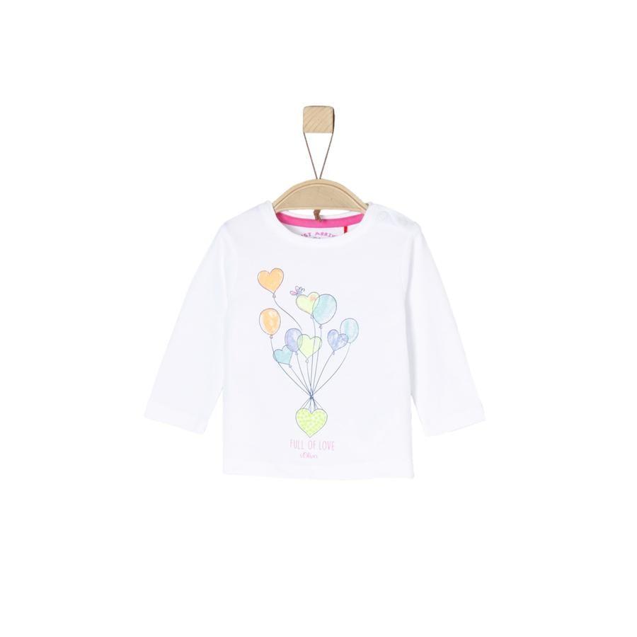 s.OLIVER Girls triko bílé