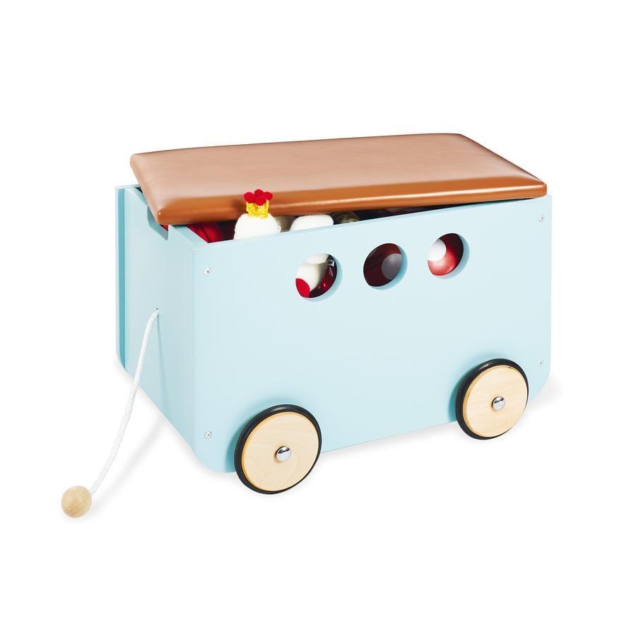 Pinolino Skrzynka na zabawki z kółkami Jim, mint