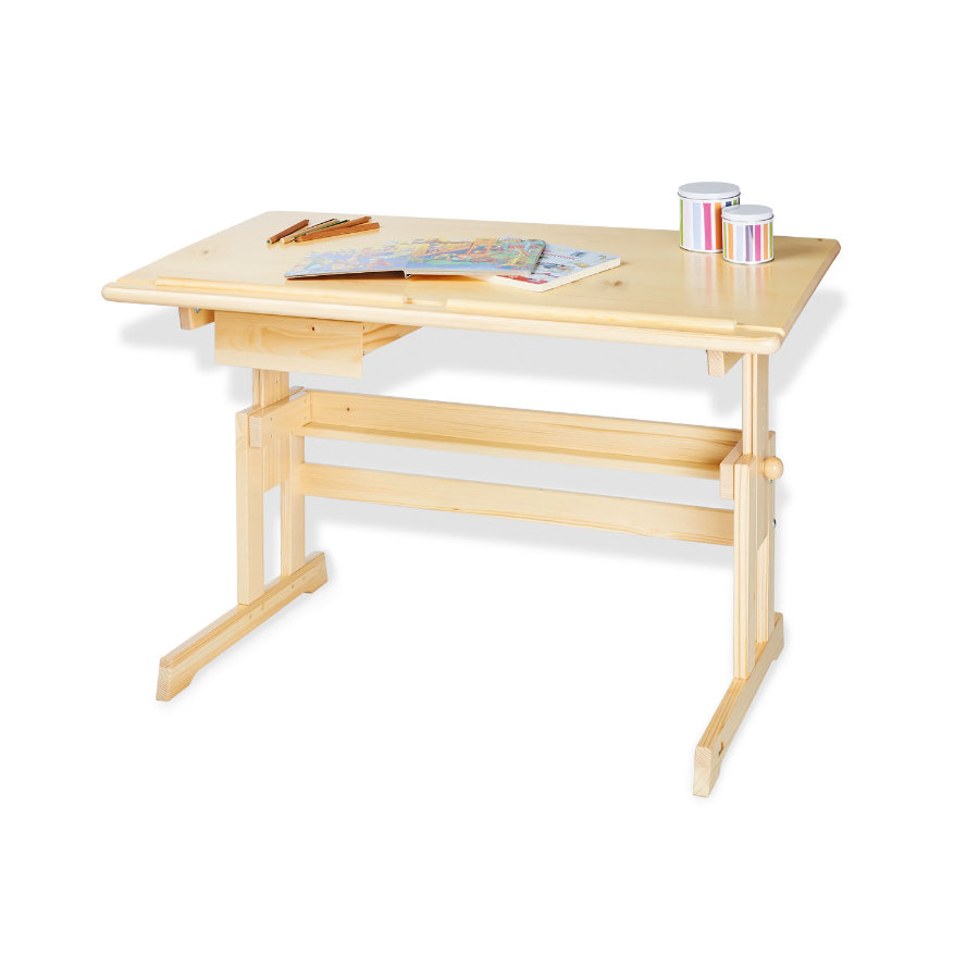 Pinolino Dětský psací stůl Lena, smrk, čiře lakovaný