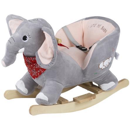 babyGO Éléphant à bascule, bois | roseoubleu.
