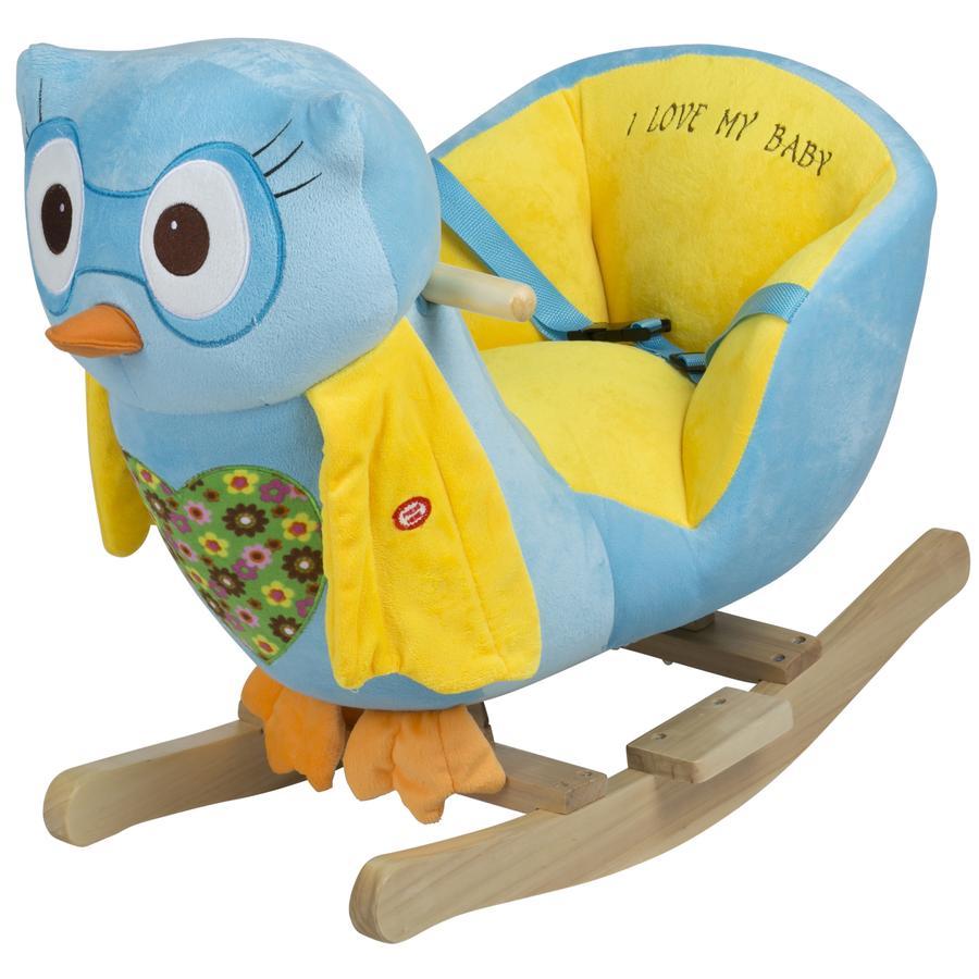 BABYGO Keinueläin pöllö, sininen