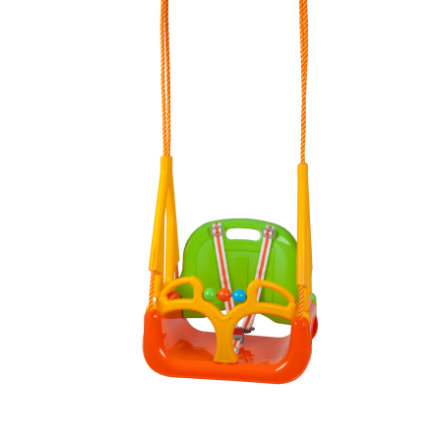 babyGO DoReMi Babyschaukel, grün-orange