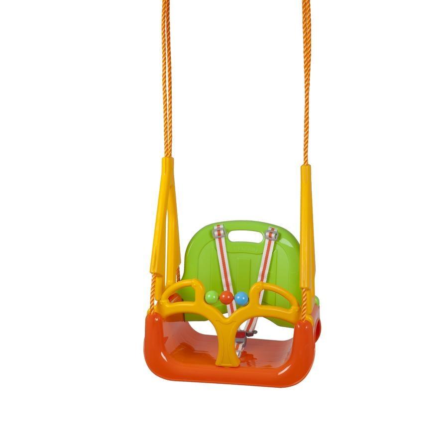 BabyGO Houpačka DoReMi, zeleno-oranžová