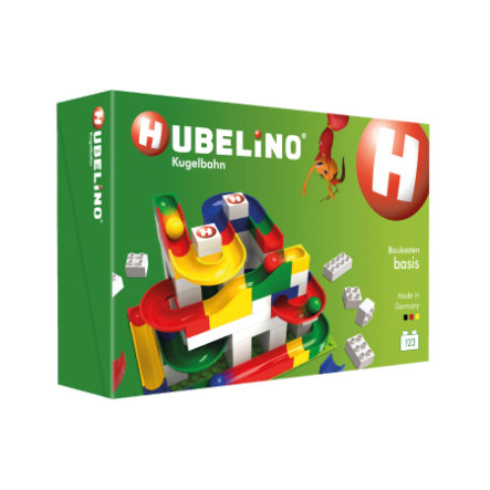 HUBELINO® Kugelbahn Baukasten Basis, 123-teilig