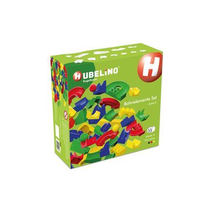 HUBELINO® Kugelbahn Bahnelemente Set, 55-teilig