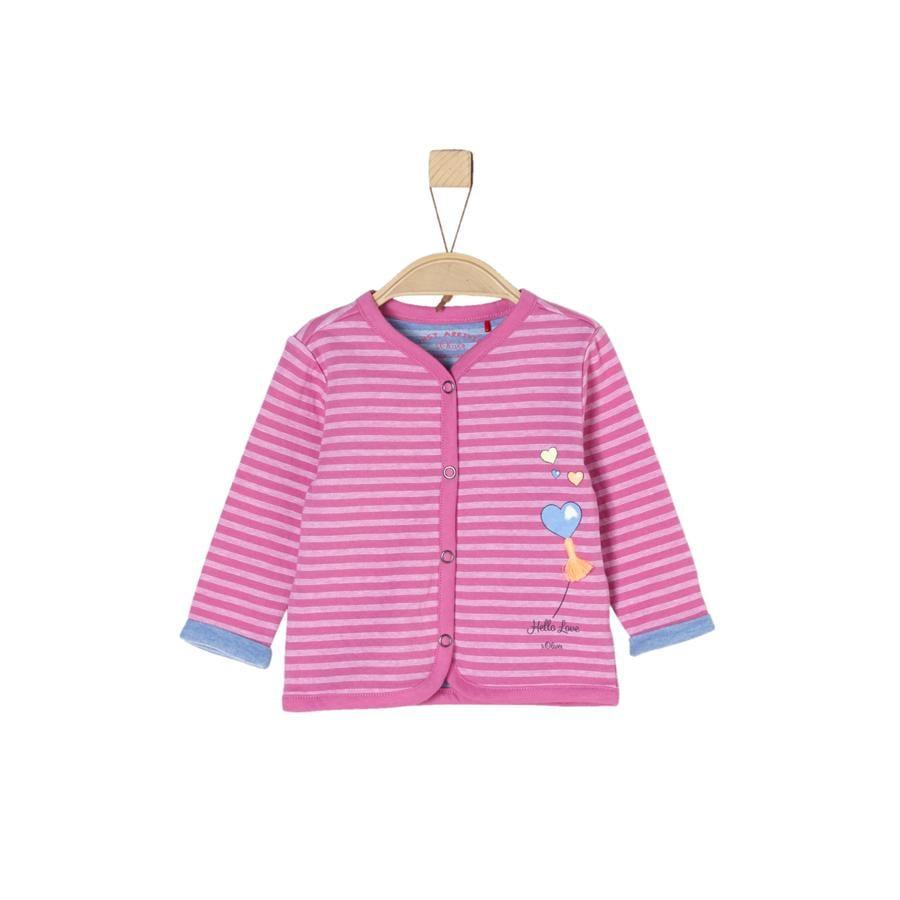 s.Oliver Girl s Bluza potowa, różowe paski.
