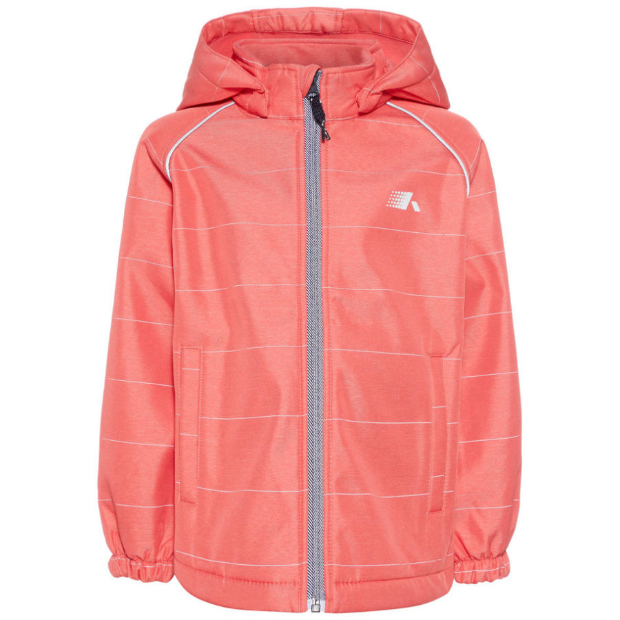 name it Girls Softshelljacke Nmfalfa sunkist coral
