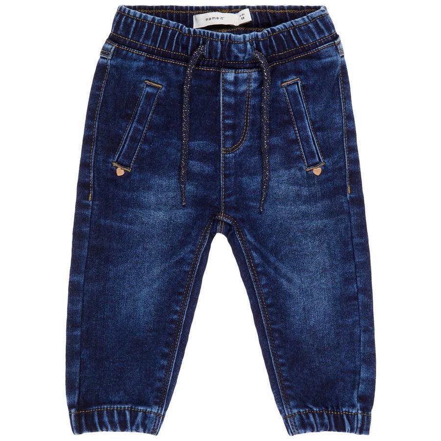 name it Jeans Maddy mörkblå denim