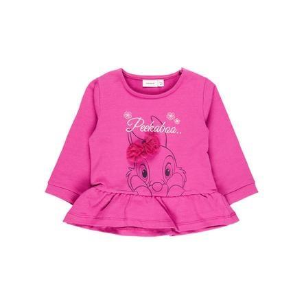 name it Girl s Sweatshirt Nbfthumper-stokje rouge