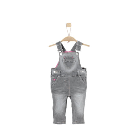 s.Oliver Girls Latzhose grey denim stretch