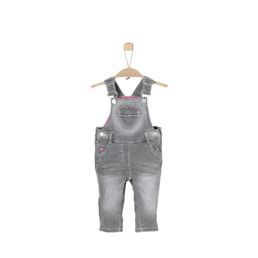 s.Oliver Girl s dungarees grey denim stretch