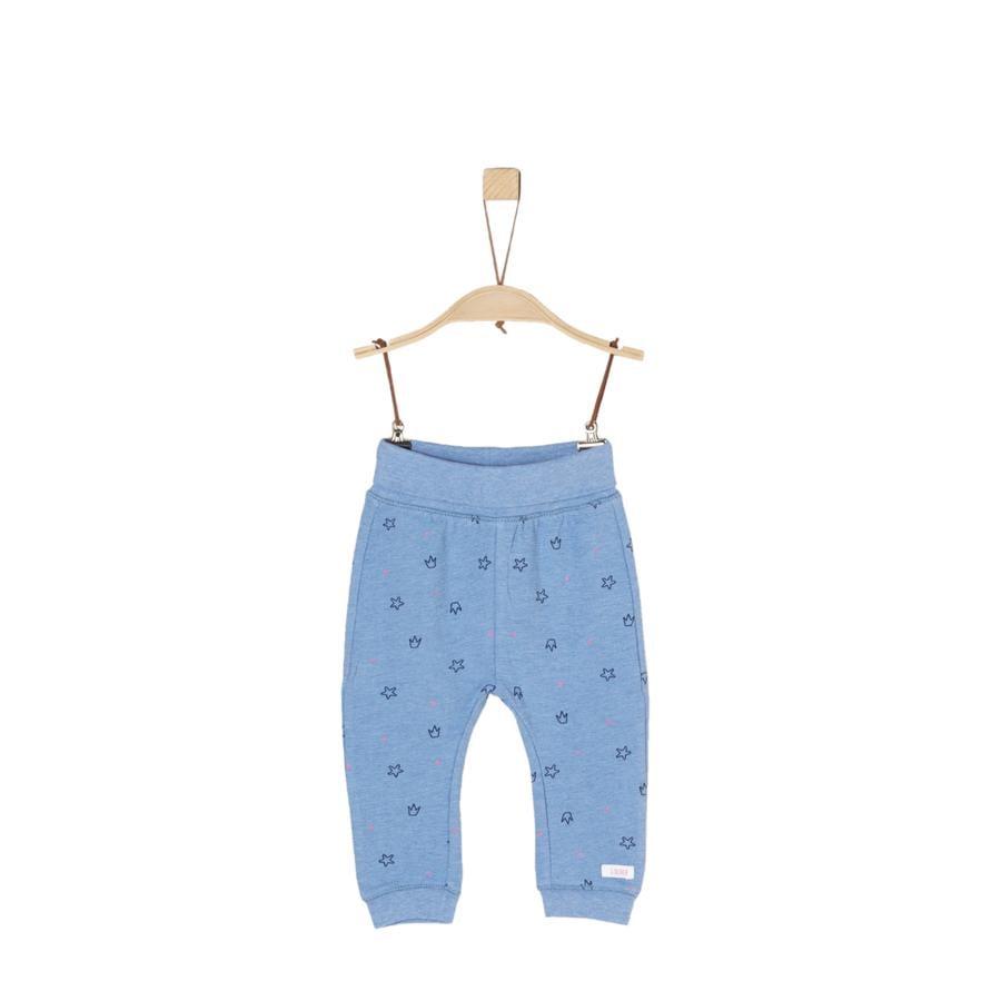 s.Oliver Girl s pantalon bleu clair aop