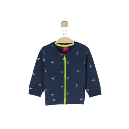 s.Oliver Boys Sweatshirtjacke dark blue aop