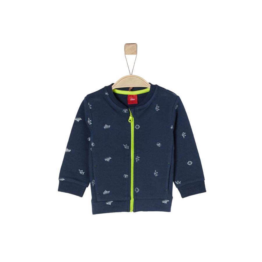 s.Oliver Boys Sweatshirt veste bleu foncé aop
