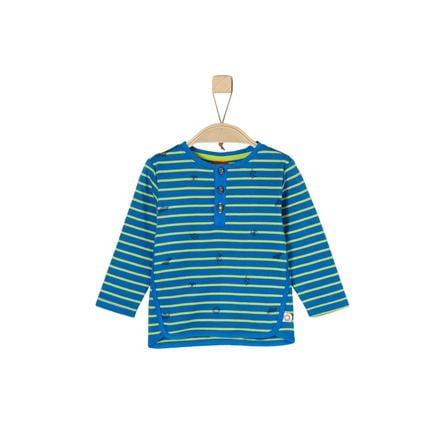 s.Oliver Boys Koszula z długim rękawem w niebieskie paski.