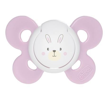 CHICCO Physio Comfort silikone-sut Girl 0m+ pink