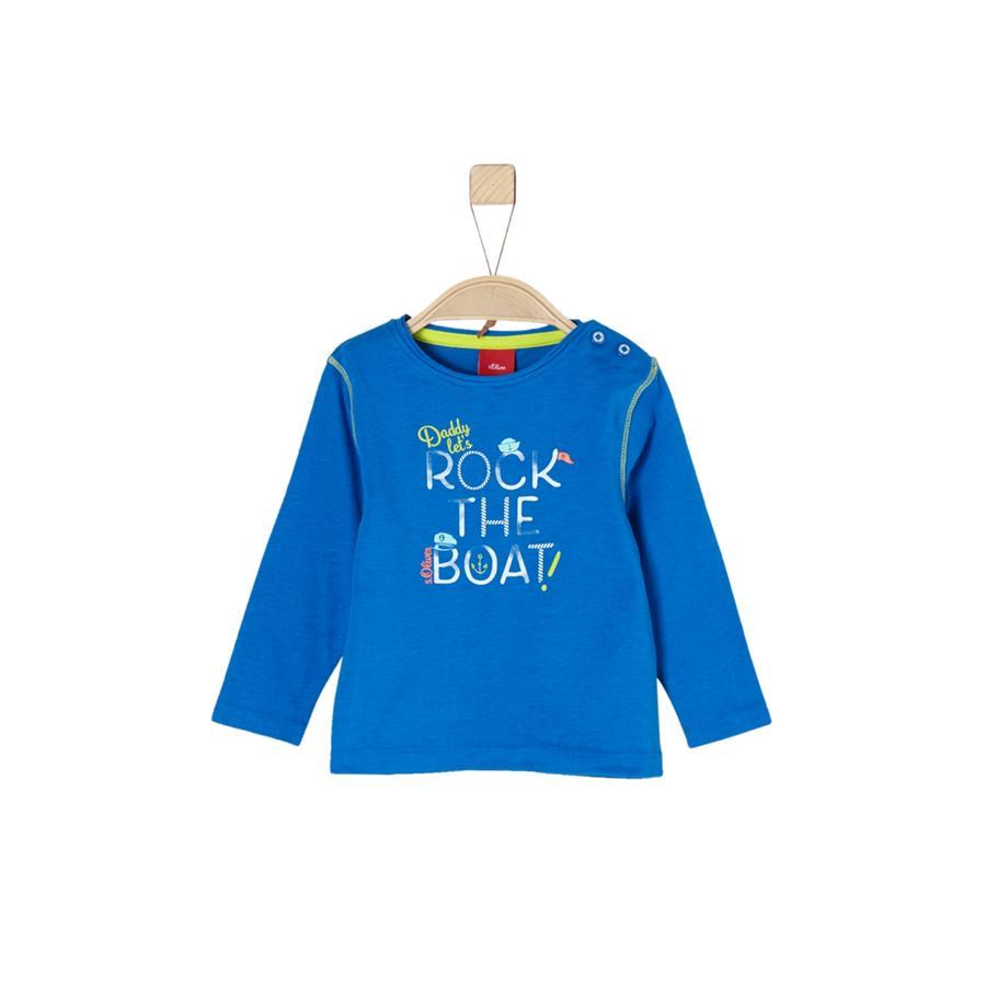 s. Olive r Chlapecké tričko s dlouhým rukávem modré