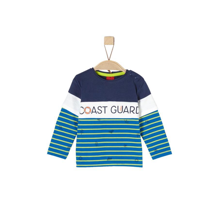 s.Oliver Boys Shirt met lange mouwen blauw aop