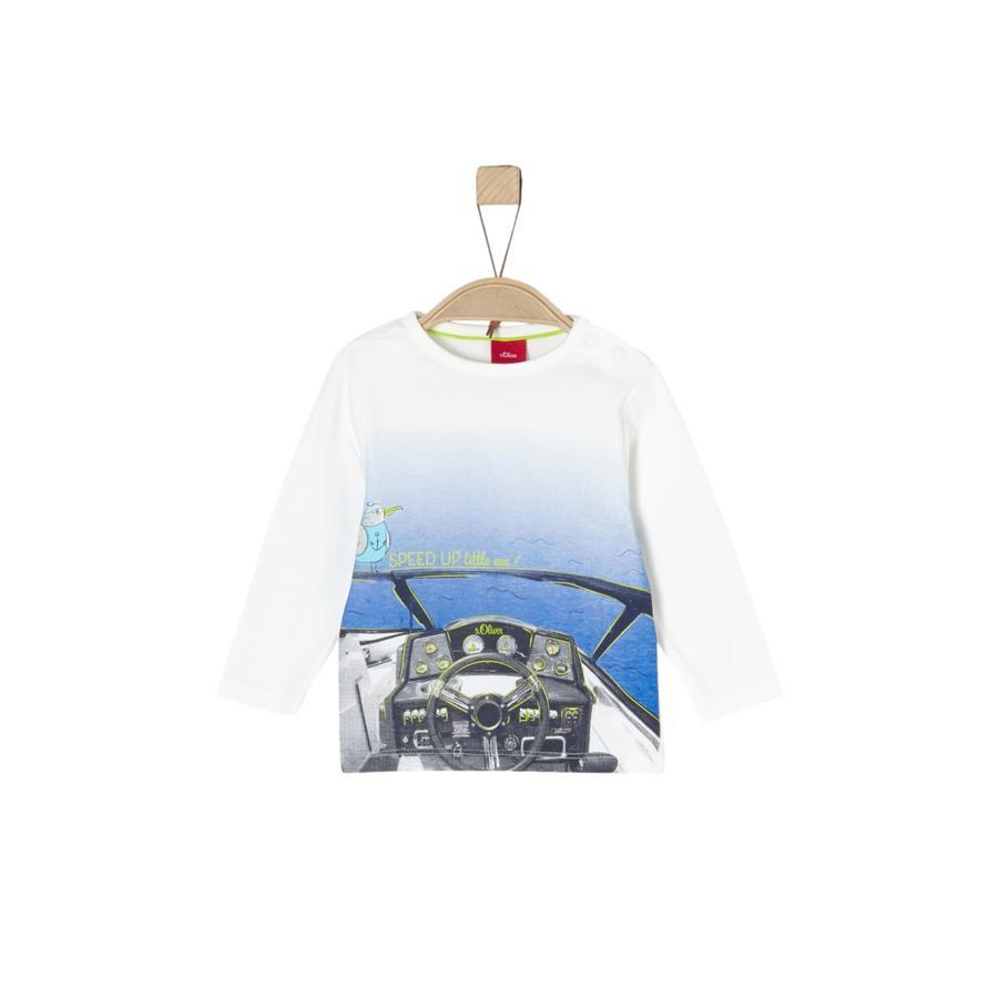 s.Oliver Boys Shirt met lange mouwen ecru