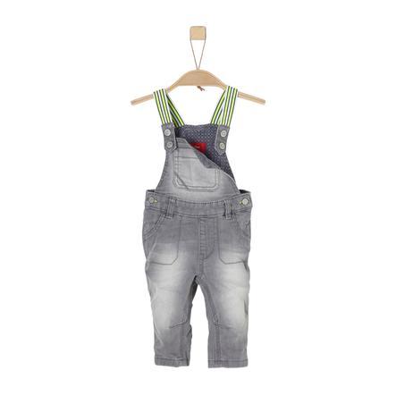 s.Oliver Boys Salopette en jean stretch gris