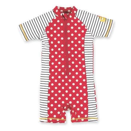 Sterntaler Girl s UV Swimsuit dots red.