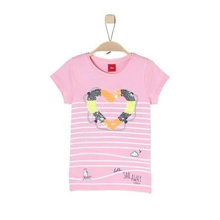 s.Oliver Girl s rosa T-Shirt pálido
