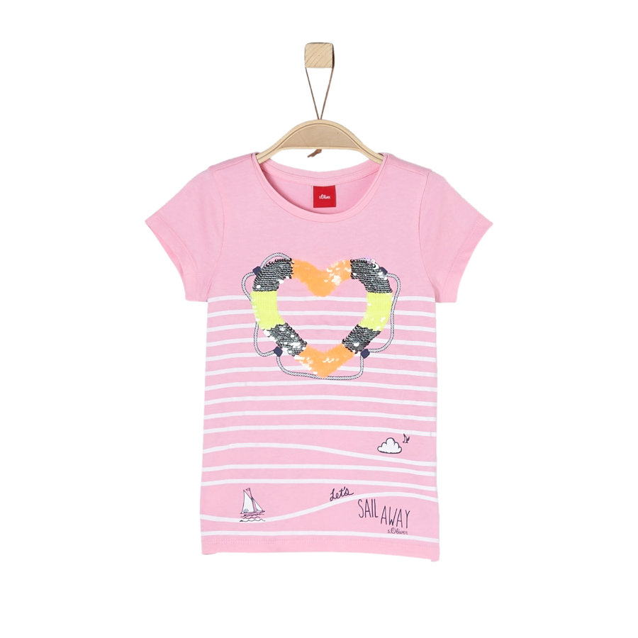 s.Oliver Girl s T-Shirt lichtroze