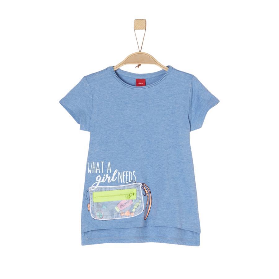 s.Oliver Girls T-Shirt light blue melange