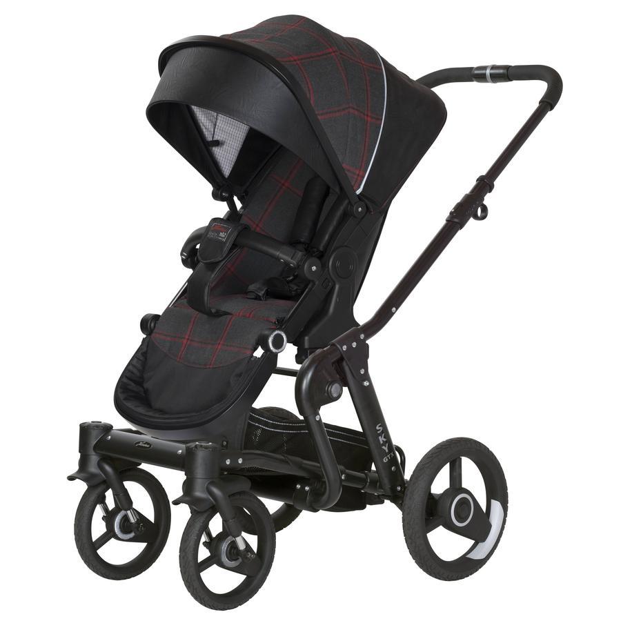 Hartan Kinderwagen Sky GTX Red Check (744) Gestellfarbe schwarz