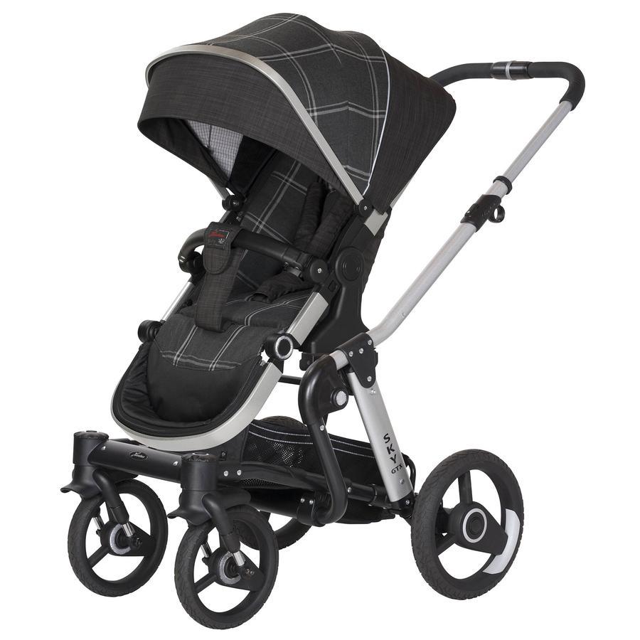 Hartan Kinderwagen Sky GTX Grey Check (746) Gestellfarbe schwarz