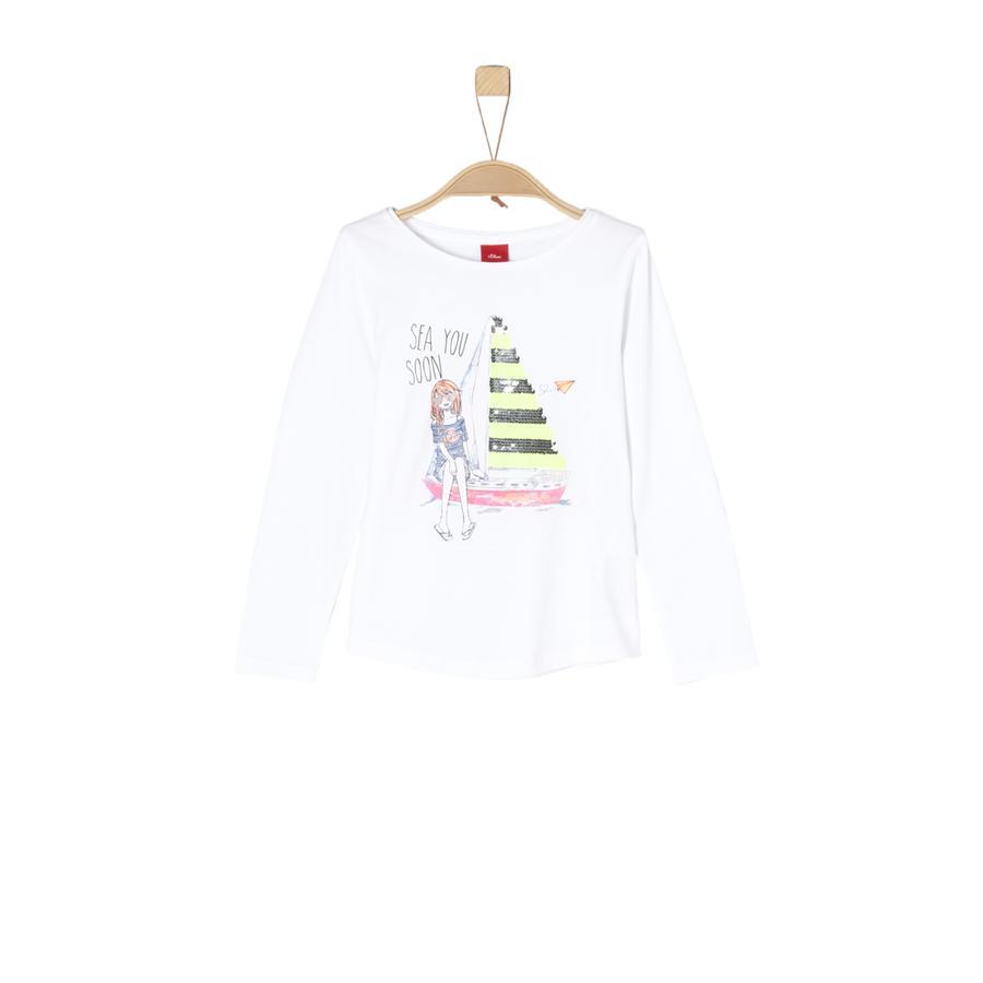 s.Oliver Girl koszula z długim rękawem w kolorze białym.