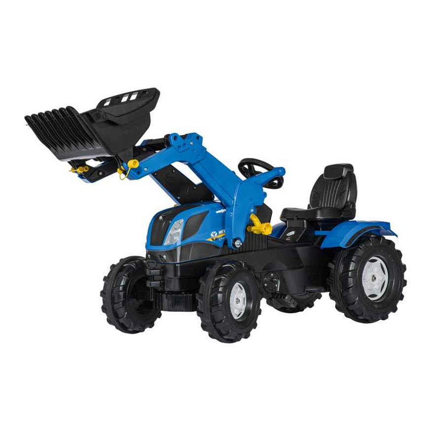 rolly®toys Tracteur enfant rollyFarmtrac New Holland, pelle rollyTrac