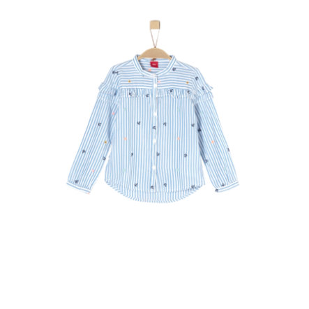s.Oliver Girls Bluse blue aop