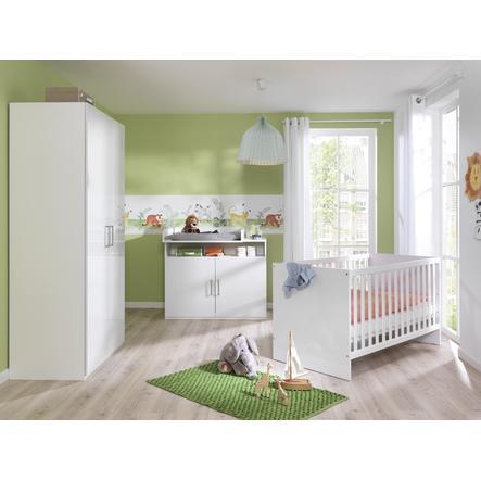 Baby-STAR WELLEMÖBEL Kinderzimmer Glossy weiß 4-teilig - babymarkt.de