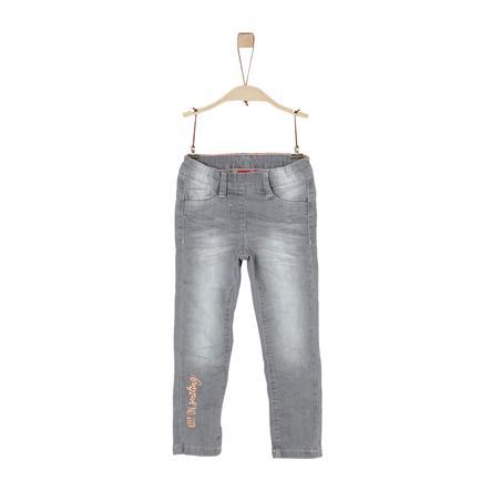 s.Oliver Girl s jeans grey denim stretch dżinsowy