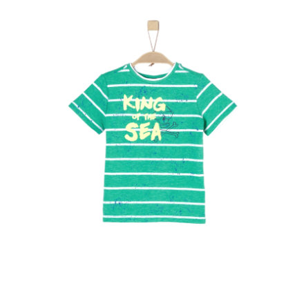 s.Oliver Boys T-Shirt rayures vertes